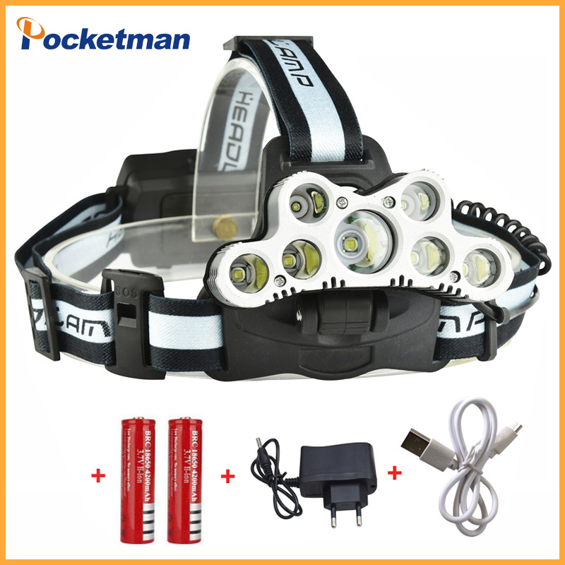 Super 45000LM USB 9 CREE LED Led Headlamp Headlight head flashlight torch cree XM-L T6 head lamp rechargeable for 18650 battery rechargeable cree xml t6 2000lumens zoom head lamp torch led headlamp 18650 battery headlight flashlight lantern night fishing