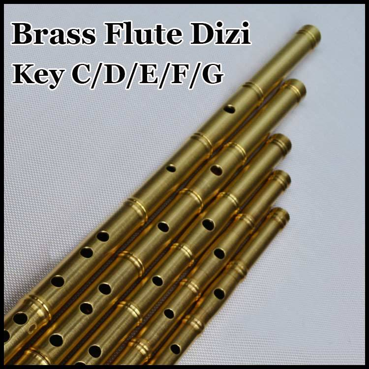 Chinese Brass Flute Dizi Traditional Professional Musical Instrument Ethnic Transverse Flauta Handmade Metal Self-defense Weapon one set of brass flute xiao dizi top grade flute musical instrument with high grade aluminum flauta case for collection gift
