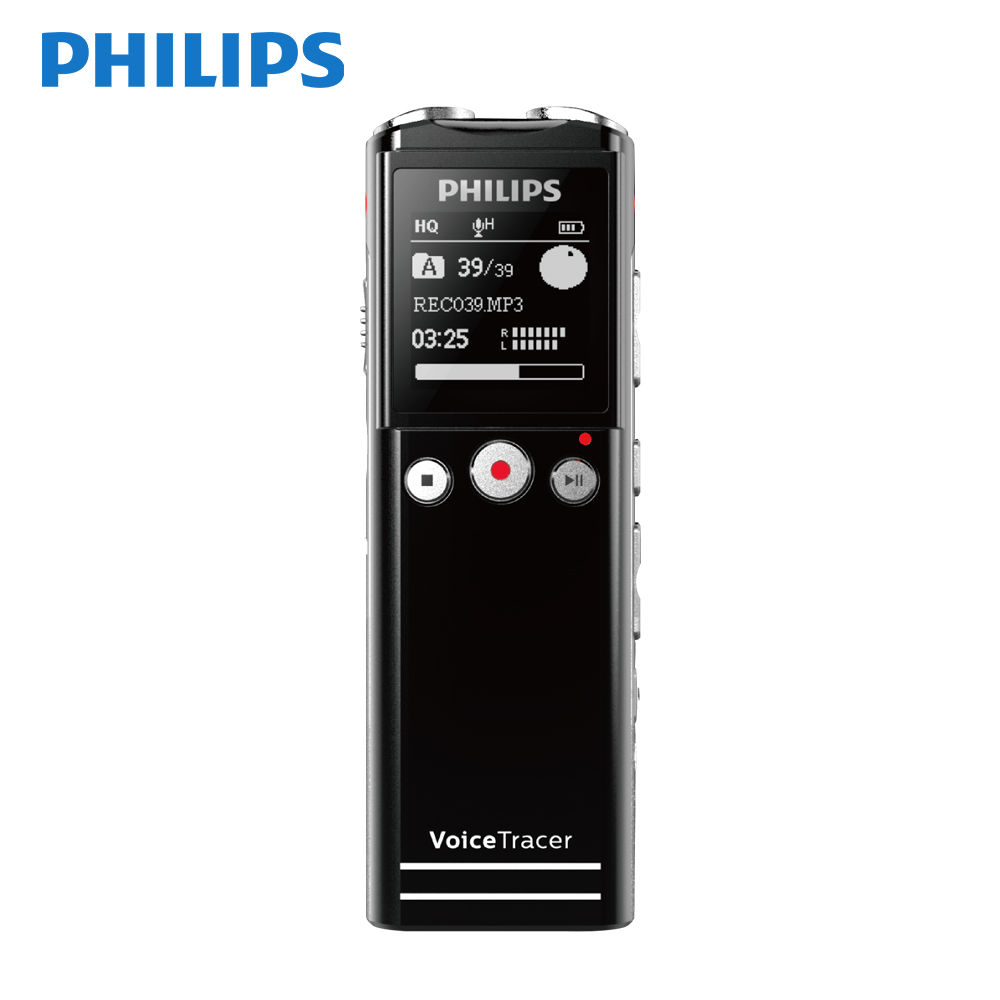Philips 100% Original 8GB Digital Voice Recorder up to 64G Wireless remote recording voice-activated FM Radio with 2*AAA battery