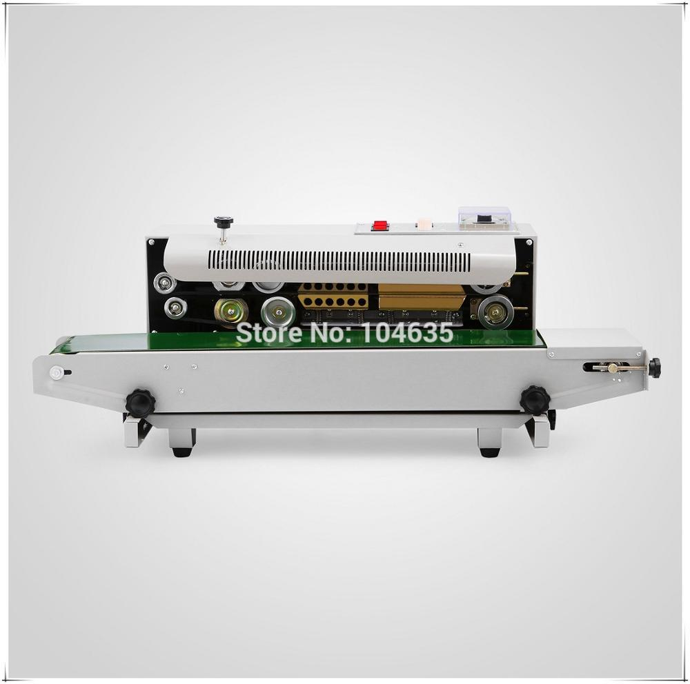 220V High quality FR 900 Continuous Automatic Sealing machine for plastic bag Plastic Bag Sealer machine