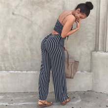 Sexy Striped Wide Legs Jumpsuit