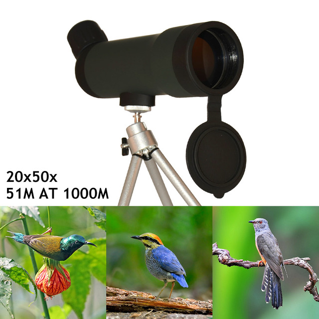 20x50 Tactical Hunting telescope SPOTTING SCOPE Birds telescope, Single-tube outdoor travel Telescope with Tripod