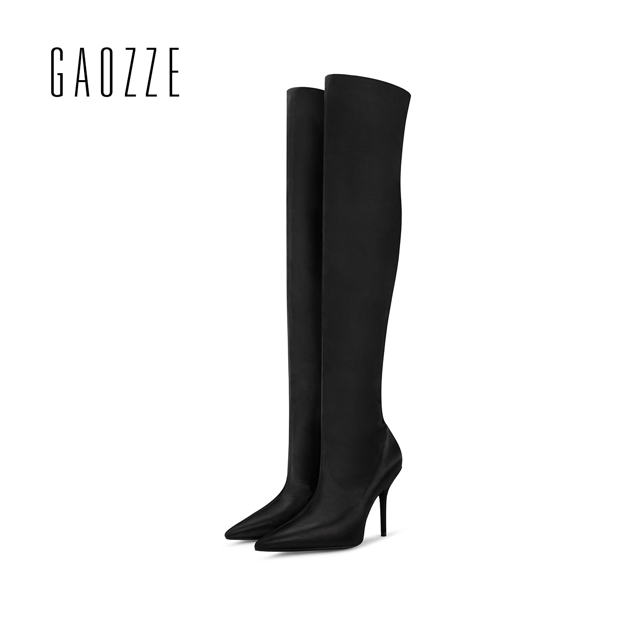 GAOZZE women over-the-knee boots sexy thin high heels boots pointed toe women shoes elastic Fashion Boots 2017 winter new new arrival high quality over the knee women boots sexy pointed toe shoes stiletto high heels blue denim jeans women boots