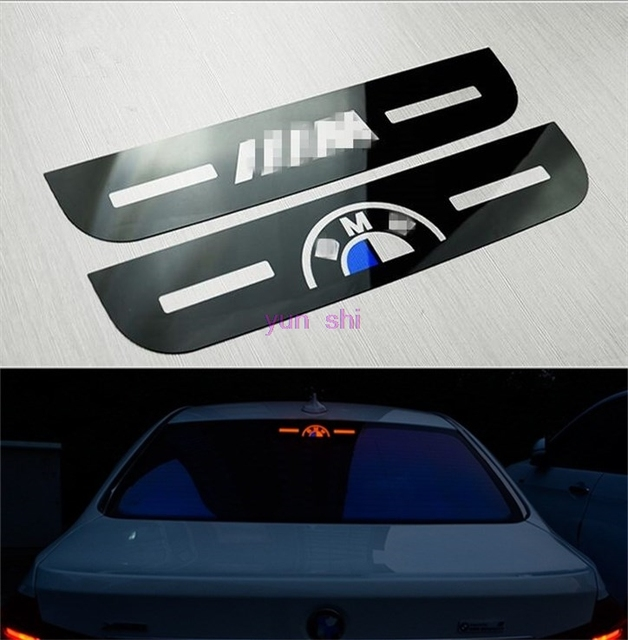 Logo car high mount stop lamp brake light sticker decoration car styling for bmw 3