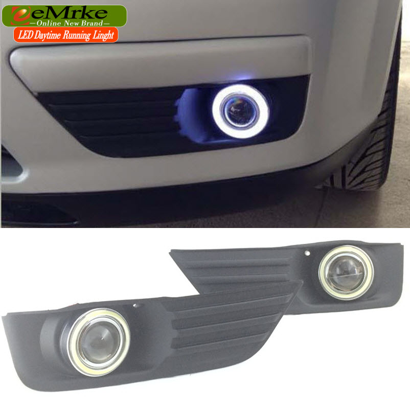EEMRKE Car Styling For Ford Focus 2004 2005 2006 2007 LED Angel Eyes DRL Driving Lights Tagfahrlicht 12V H11 55W Fog Lights Lamp for opel astra h gtc 2005 15 h11 wiring harness sockets wire connector switch 2 fog lights drl front bumper 5d lens led lamp