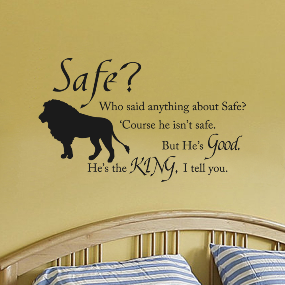 Chronicles of Narnia Aslan Safe Boys Room Wall Decal Children ...