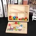 Montessori kinder frühe bildung puzzle hand-auge koordination mathematik clip perlen lehrmittel clip denken ausbildung spielzeug