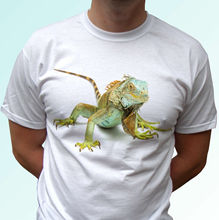 Green Iguana white t shirt animal tee lizard top -mens womens kids baby sizes Funny Tops Tee New Unisex free shipping