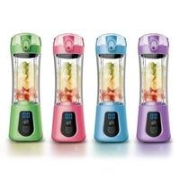 Portable Electric Slow Juicer Smoothie Machine 4 Colors Mini Fruit Juice Maker Multi function Pocket Sports Bottle Blender