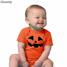 Niosung Infant Baby Girls Boy Halloween Short Sleeve Romper Coverall Teddy Leotard Jumpsuit Clothes Halloween Party Clothes