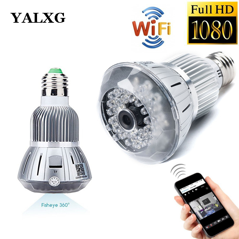 1080P H.264 Home Security Full-HD Wi-Fi Mini Led Bulb Light IP Wireless Security CCTV Camera With Motion Sensor Detection DVR eazzy bc 688 bulb cctv security dvr camera auto control light and recording motion dection night vision circular storage