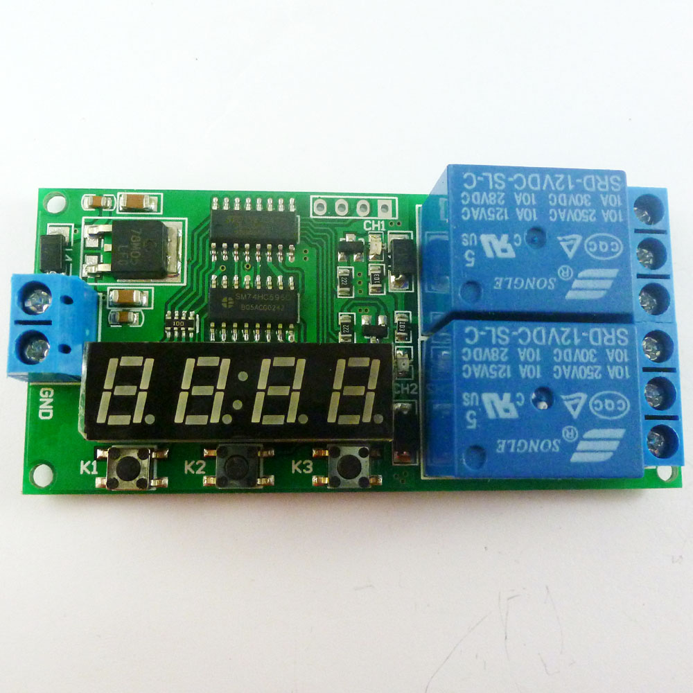 Kc22b02 12v Dc 2 Ch Multifunction Delay Timer Module Relay Kc Diagram Free Download Wiring Schematic Controller Motor Reverse Cycle Loop Timers Interlock Board In Relays From Home