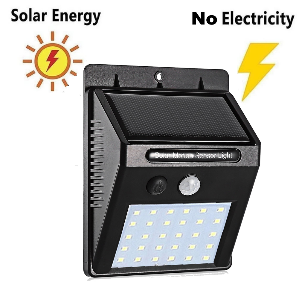 Solar Rechargeable LED Solar Light Bulb Outdoor Garden Lamp Decoration PIR Motion Sensor Night Security Wall Light Waterproof St