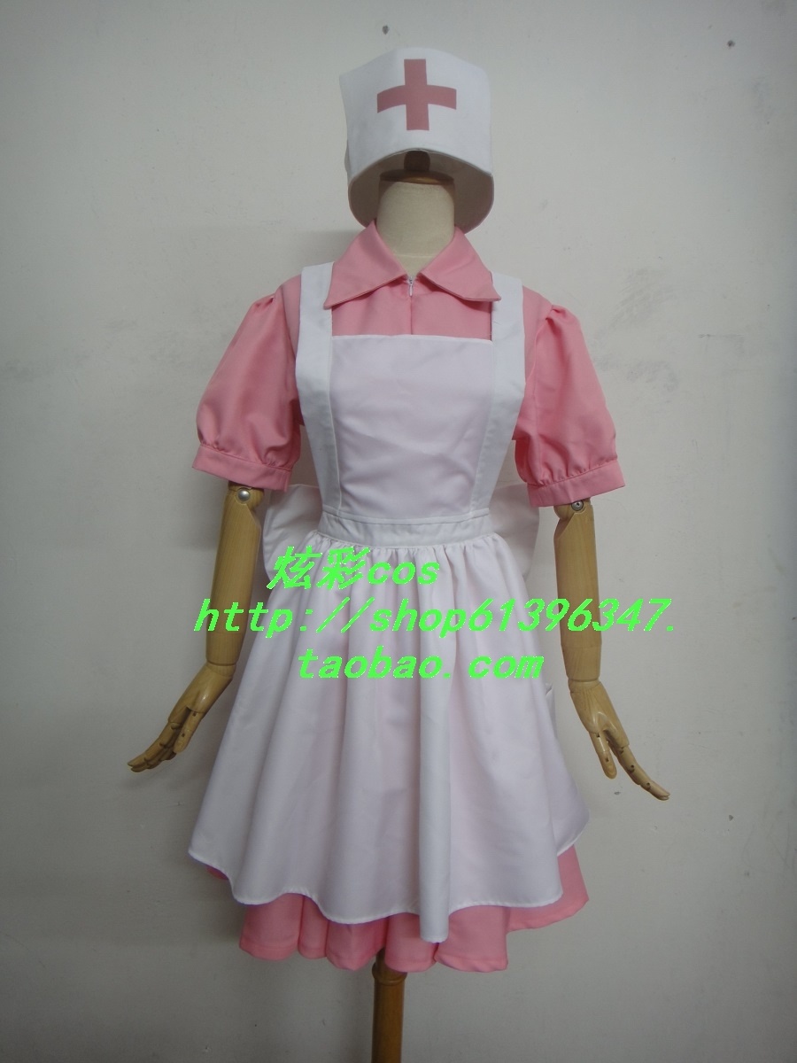 Pokemon Pocket Monsters Perawat Joy Cosplay Costume Dress + apron + - Kostum - Foto 2