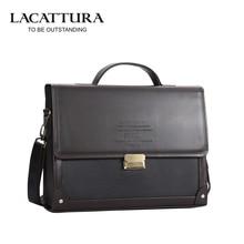Promotion Men s PU Leather Briefcase Fashion Handbags for Man Sacoche Luxury Male Bag Dark Coffee