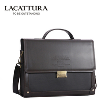 Promotion Men's PU Leather Briefcase Fashion Handbags for Man Sacoche Luxury Male Bag Dark Coffee Business OL Hasp Shoulder Bags
