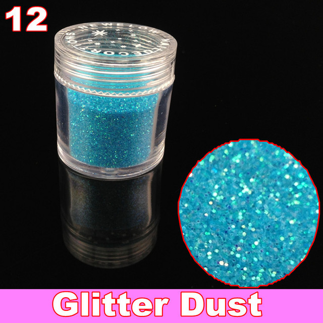 12 x Glitter Acrylic Powder dust For Nail Art Tips + Free Shipping