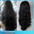 Fashion Glueless Full Lace Synthetic Hair Wigs Natural Black Body Wave Synthetic for Black Women Heat Resisitant Fiber hair wig