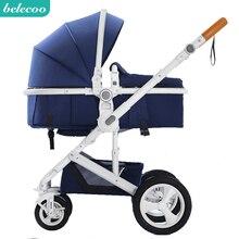Belecoo детская коляска высокий пейзаж детская коляска сидя и лежа Складная двусторонняя четырехколесная амортизация