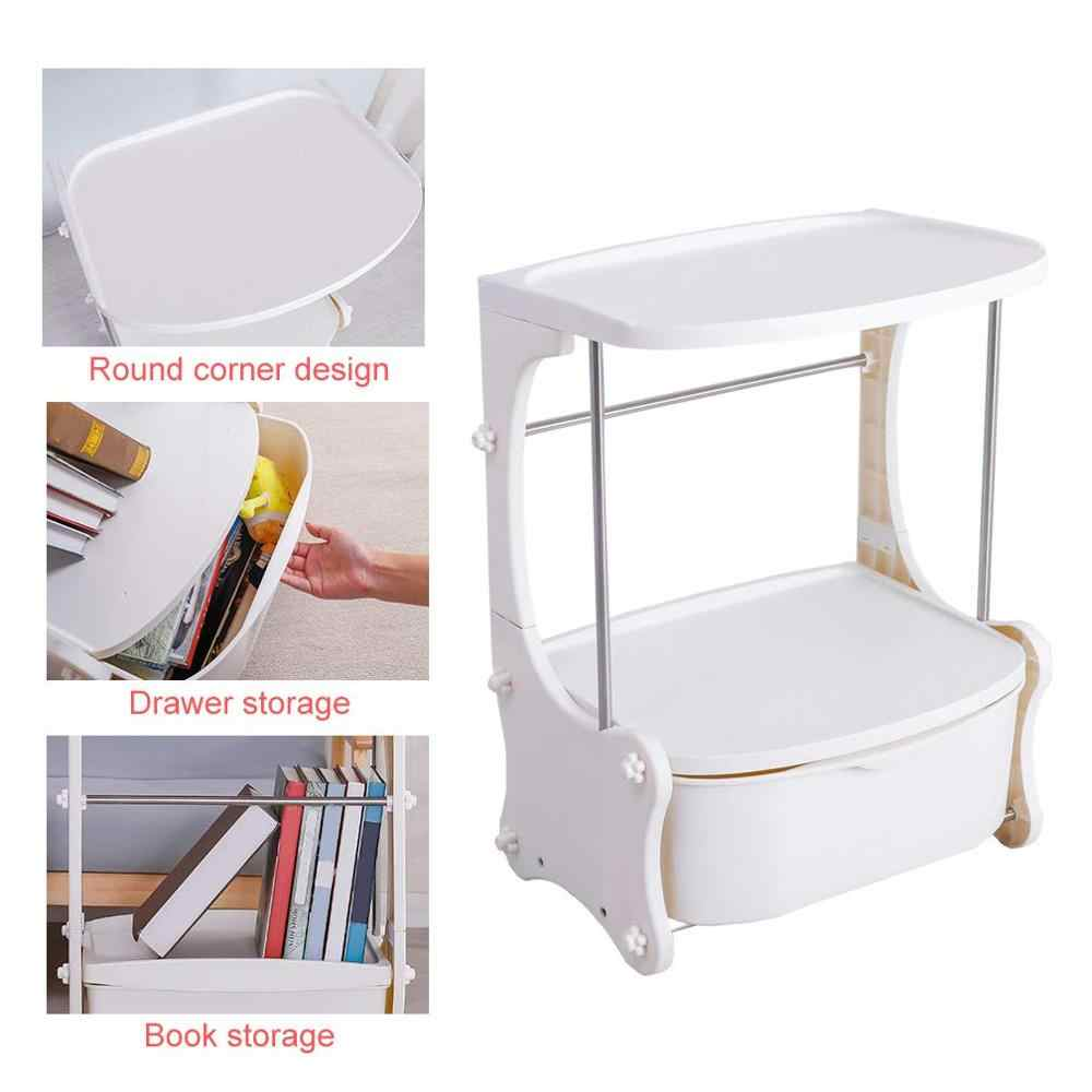Nightstand table simple modern bedside cabinet storage cabinet Ivory White small table dormitory bedroom with Drawer DQ1810