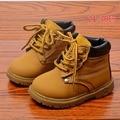 Moda niños Zapatos Botas de Invierno Del Otoño Del Resorte Niñas Niños Botas de Bebé Zapatos de Los Niños Botas de Cuero de LA PU