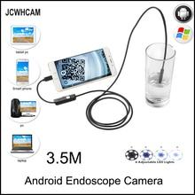 купить JCWHCAM HD 720P 2MP Android OTG USB Endoscope Camera 8mm 3.5M Flexible Snake USB Pipe Inspection Borescope Android USB Camera дешево