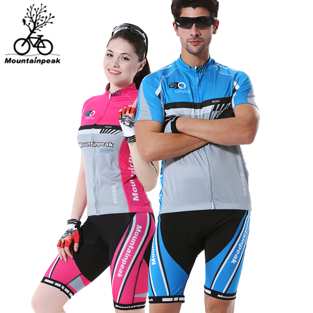 Mountainpeak Summer Women Men Couple Cycling Clothing Short Sleeve Bike Jersey Outdoor Wear Breathable Skinsuit DropShipping 120w orbital professional variable speed polisher with terry cloth bonnet