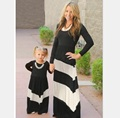 XXS-3XL Family Style Set Mother Daughter Dresses Clothes Striped Mom and Daughter Dress Family Clothing Parent-Child Set WT11