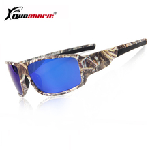 цены Queshark Camo Polarized Hiking Sunglasses Uv400 Cycling Driving Bike Tactical Goggles Camouflage Fishing Glasses Sports Eyewear