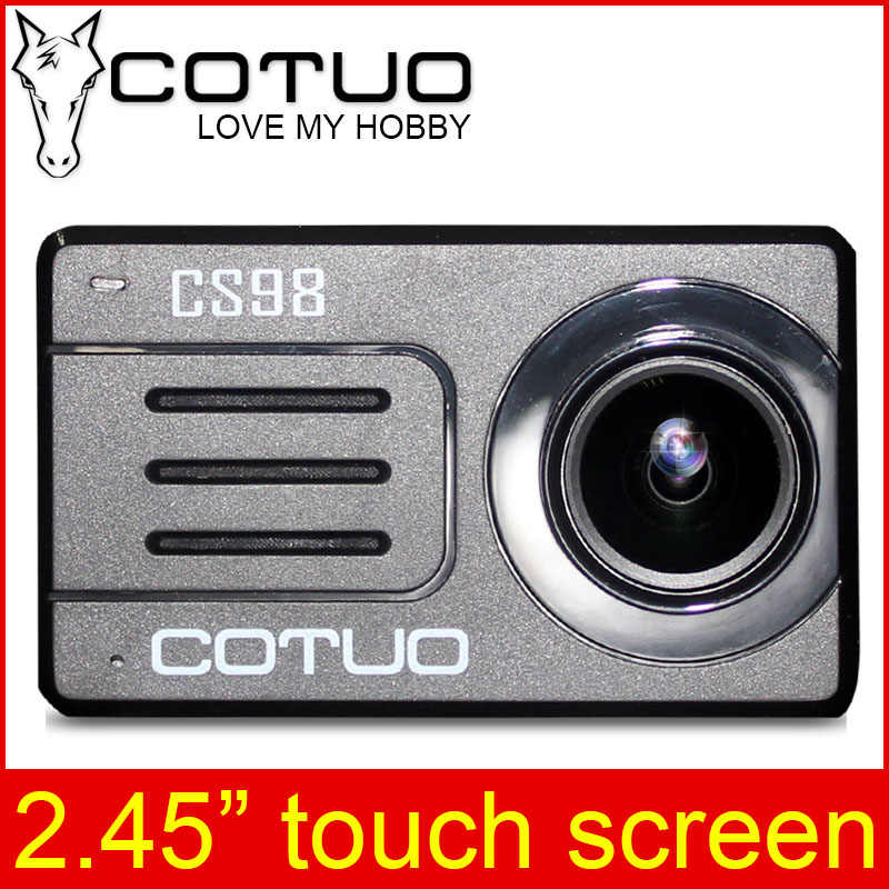 """COTUO CS98 Экшн-камера 2,45 """"сенсорный экран пульт дистанционного управления 4 K 24fps Ultra HD 30 M водонепроницаемый Notavek 96660 wifi Спорт go mini SJ DV 6 pro"""