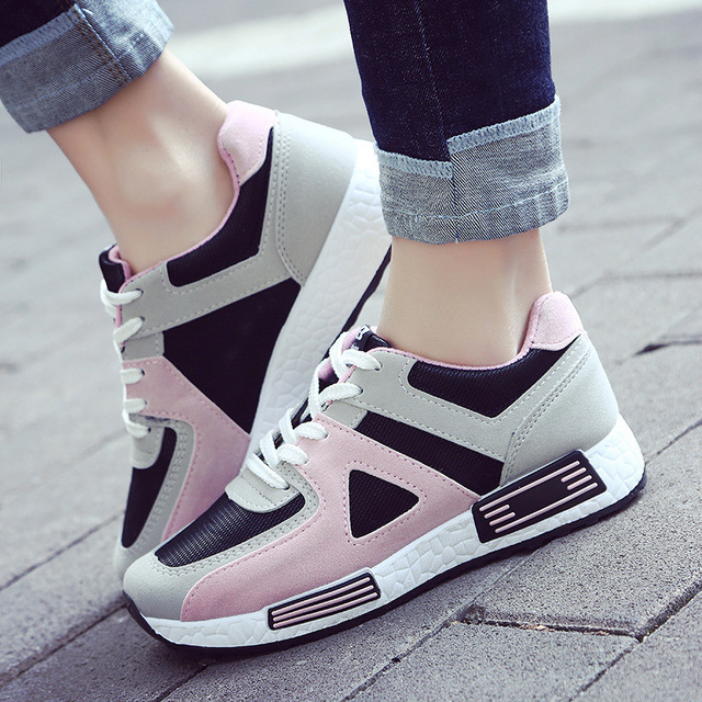 82231d5c2 Fashion Pink Sneakers Women Breathable Women's Casual Outdoor Vulcanize Shoes  Women Running Shoes
