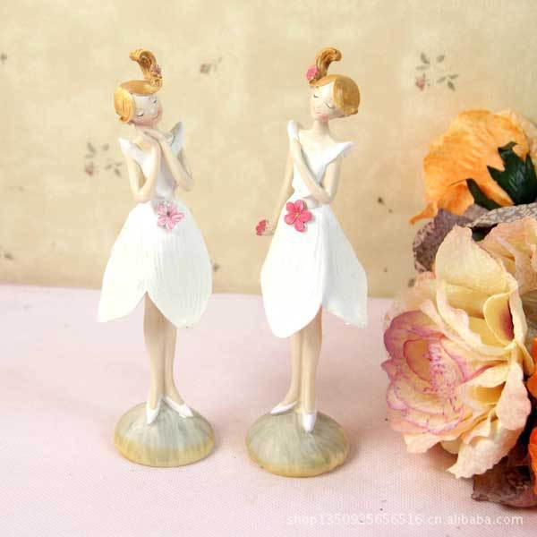 Europe Flower Fairy Characters Angel  Artificially Colored Resin Fabric Christmas gifts party decorations Wedding Home Decoratio