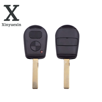 Xinyuexin 2 Buttons Car Key Shell Cover Remote Blank Key Replacement Fit for BMW E38 E39 E36 Z3 Key Case Fob No Logo image