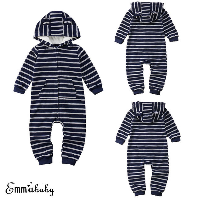 af81e93f1 US Newborn Kids Baby Boy Girl Hoodie Romper Jumpsuit Bodysuit Clothes  Outfits