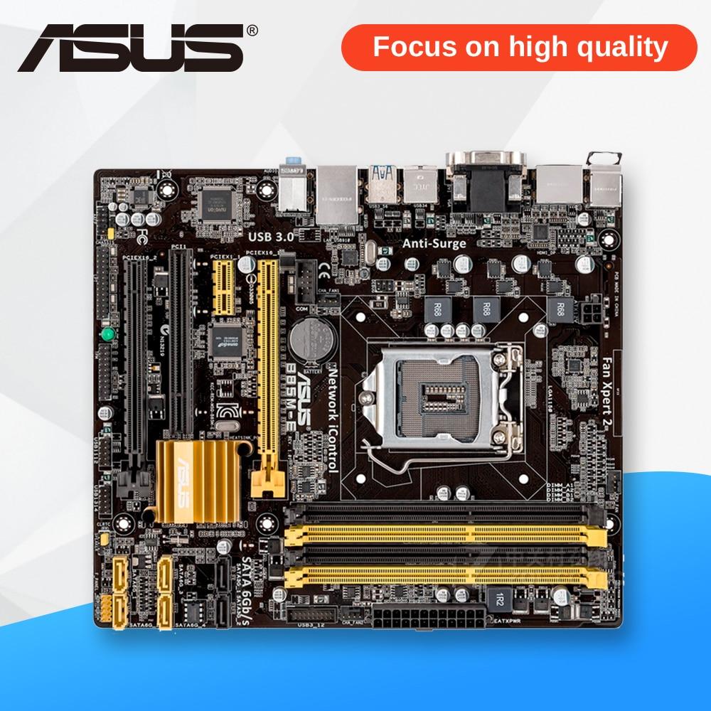 Asus B85M-E Desktop Motherboard B85 Socket LGA 1150 i7 i5 i3 DDR3 32G SATA3 USB3.0 Micro-ATX asus b85m e desktop motherboard b85 socket lga 1150 i7 i5 i3 ddr3 32g sata3 usb3 0 micro atx second hand high quality