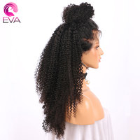150 Density Kinky Curly Lace Front Human Hair Wigs With Baby Hair Pre Plucked 13x6 Brazilian Virgin Hair Wig For Women Eva Hair