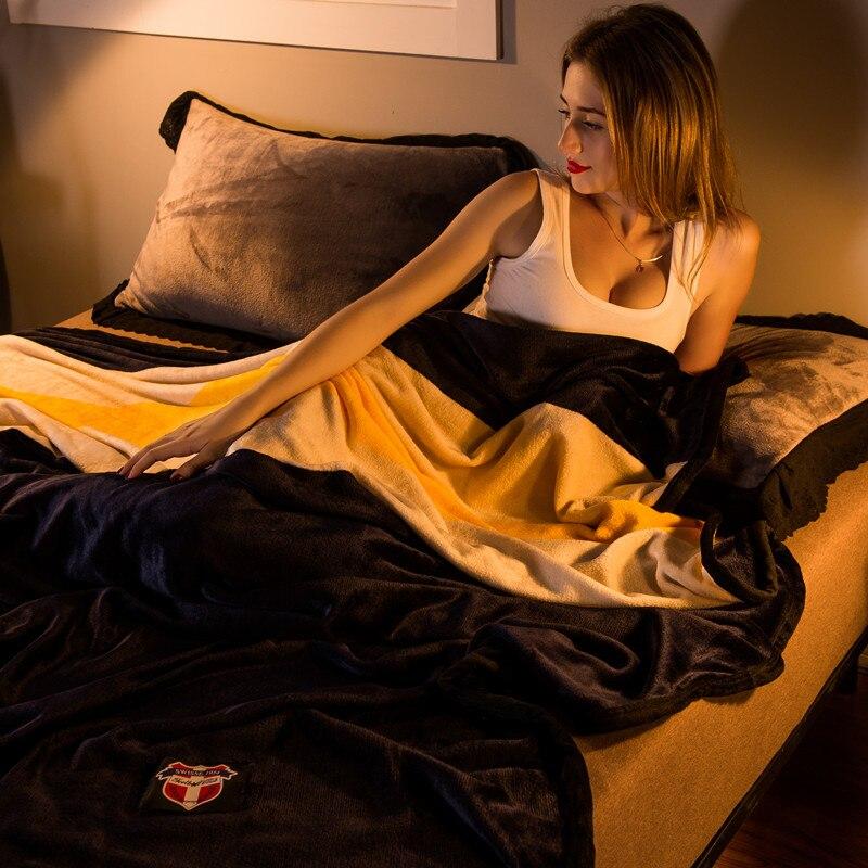 Plaid polaire couverture sur les lits couvertures pour lits voiture canapé jeter couverture en peluche hiver chaud corail