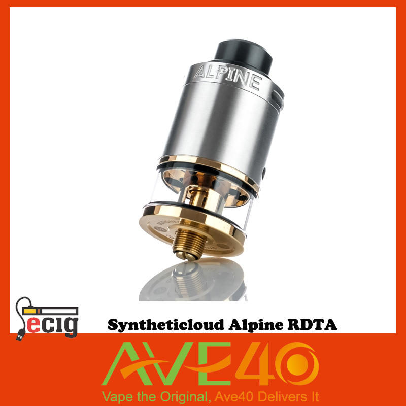 ФОТО Original Syntheticloud Alpine RDTA 24mm Electronic Cigarette Rebuildable 24K Gold-Plated Two-Post from ave40 VS IJOY