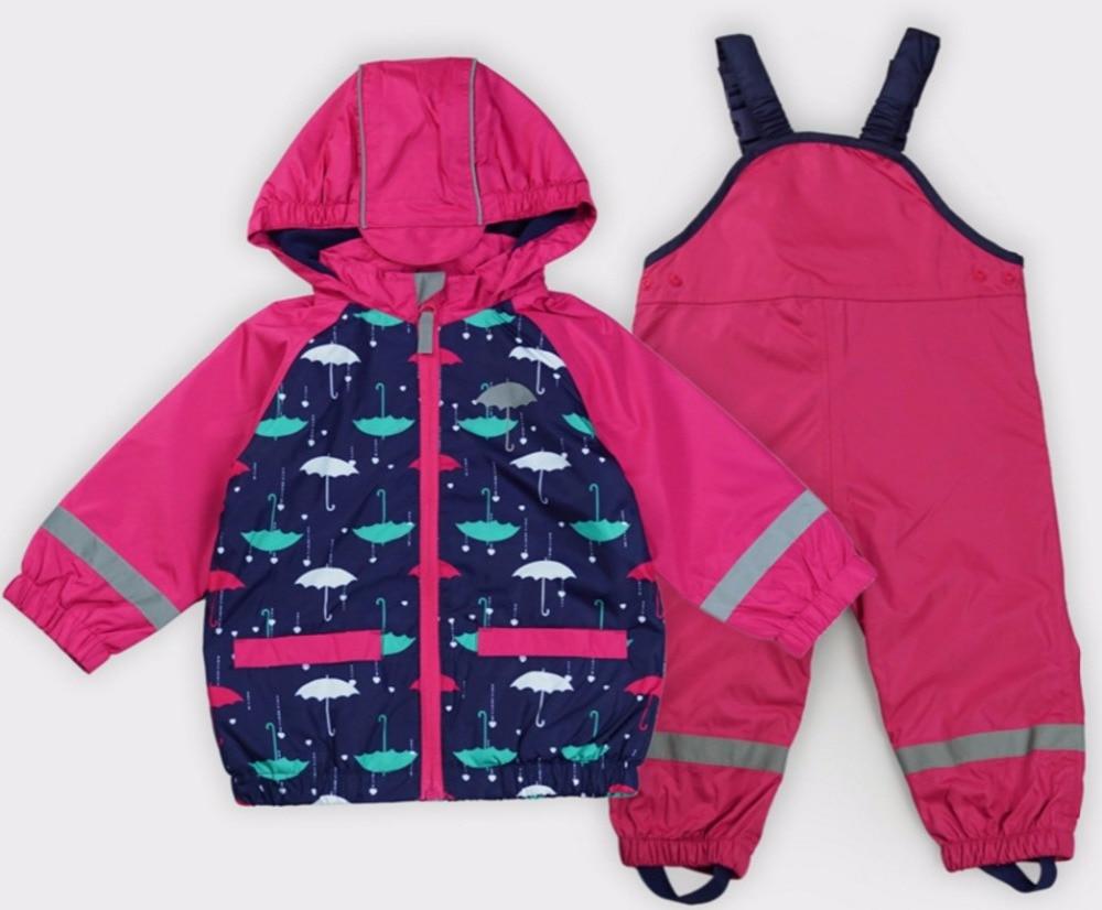 2017 new spring and autumn children cute outdoor suit windproof waterproof outdoor jackets coat + pants все цены