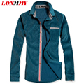 LONMMY M-3XL men shirt striped shirt men camisa masculina Corduroy shirt men imported clothing Long-sleeve
