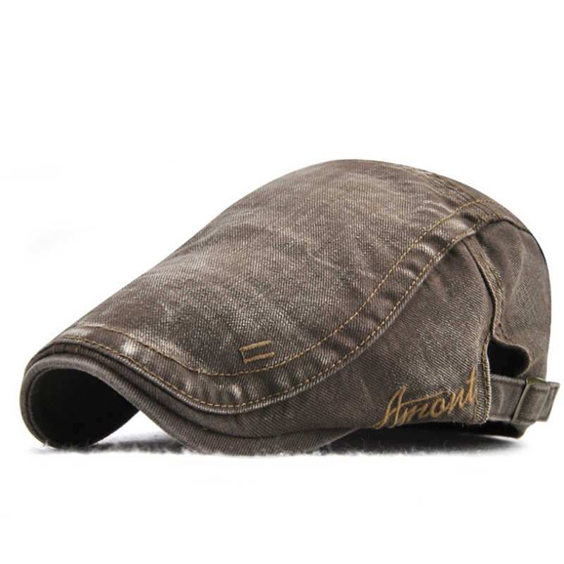 2018 New Casual British Style Unisex Solid Cabbie Hats Caps Newsboy Cap Flat Hat Irish Newsboys Caps For Men And Women