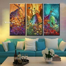 Wall Art Handpainted Modern Figure Oil Paintings Home Decor painting picture Large Knife Colorful Dancer Women Picture