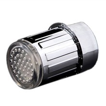 Hot!LED Light Water Faucet ABS Round Connector for Bathroom or Kitchen(China)