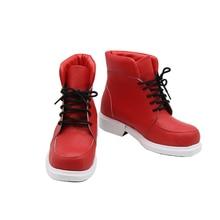 Обувь для косплея «My Hero academic Boku No Hero Akademia Izuku Midoriya» красного цвета; Ботинки для Хэллоуина; Карнавальные вечерние аксессуары для костюмов
