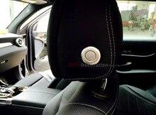 Для Benz ML W166/GL X166 2012-2015 ABS Хром Интерьер Подушки Сиденья Подголовник Настроить Кнопки Крышка Отделка 4 шт.