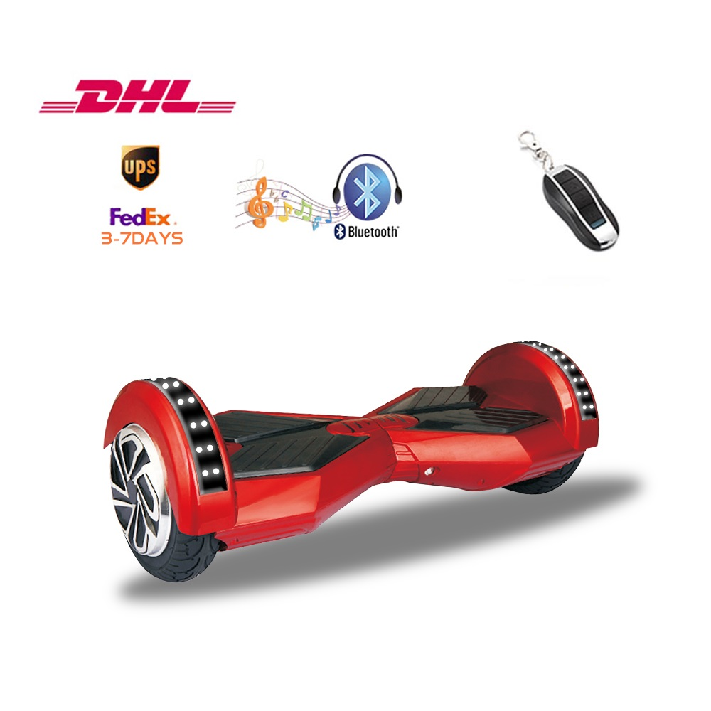 Scooter hoverboard 2 wheel self balancing scooter wheel electric Bluetooth Music Samsung battery UL2272 3-8 days of delivery 2016 hot sale 24v 150w 12km h 120kg 15 17km four wheel electric scooter hoverboard skateboaed