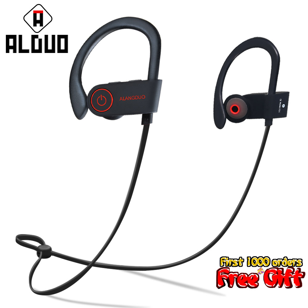ALANGDUO G6 Sports Bluetooth Earphone Headphone Wireless Auricolari Bluetooth With Mic Handsfree Headset Earbuds Fone De Ouvido