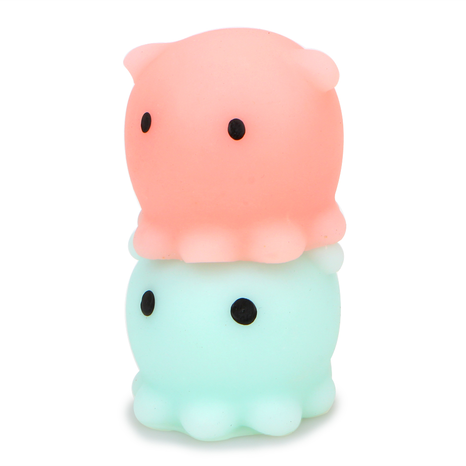 1PCS New Original Japan Octopus Mochi Squeeze Stretchy Kawaii Decompress Squishy With Box Phone Strap