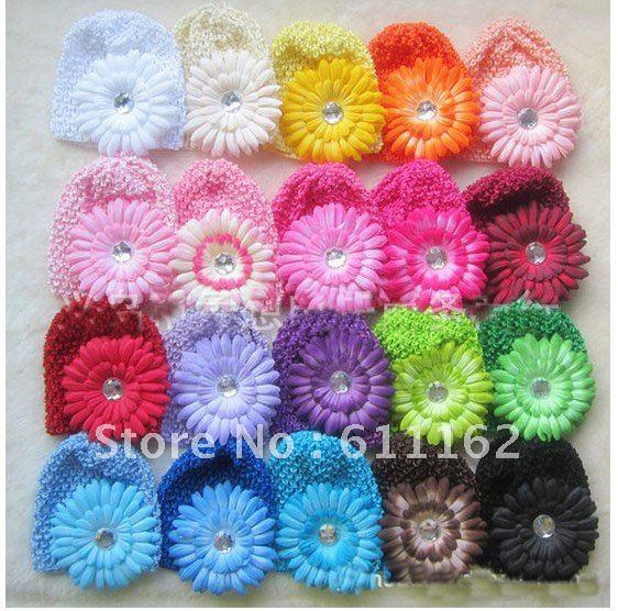 80 шт Детские вязанное крючком изделие шапки и вафельные шапочки и шапки много цветов на выбор gbth bmfhm