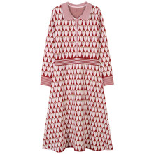 SRUILEE 2018 New Spring Bling Love Jacquard Vestidos Women Dress Pullover Knit Dresses Heart Striped Glittering Jumper Runway